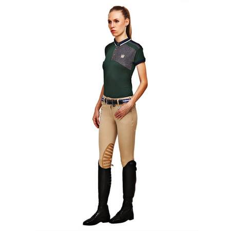 - George H Morris GHM Ladies Add Back Knee Patch Breech 34 Safari