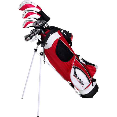 Tour Edge Golf HT Max-J Jr 2x1 Golf Club Set, Red