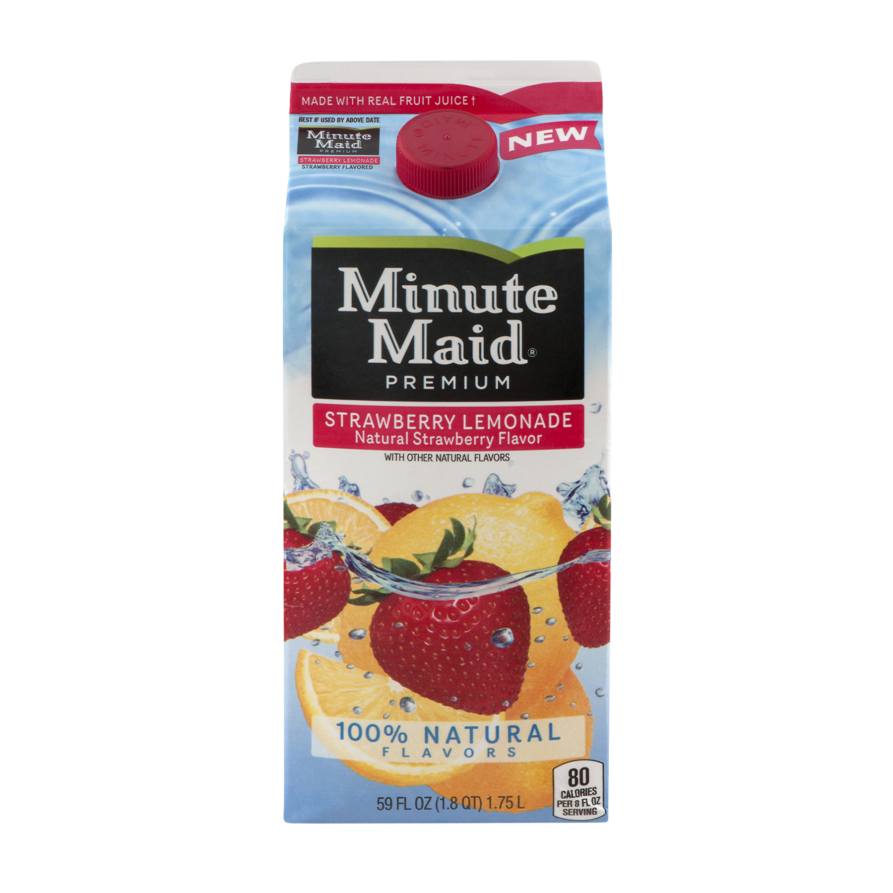Minute Maid Premium Strawberry Lemonade, 59.0 FL OZ
