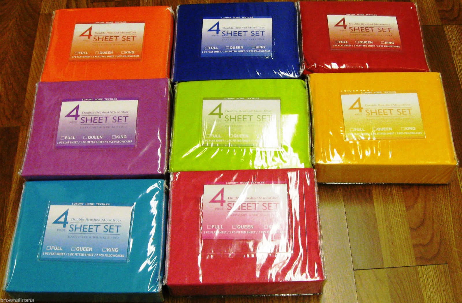 BRIGHT NEON WRINKLE FREE SHEET SETS WITH PILLOWCASES AND EXTRA DEEP FITTED  SHEET, QUEEN SIZE