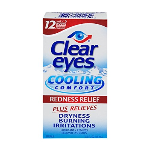 5 Pack - Clear Eyes Cooling Comfort Redness Relief Eye Drops 0.50oz Each
