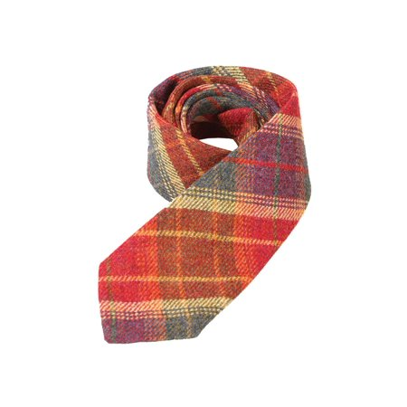 Men's Islay Tweed Tie - Scottish Plaid Wool Necktie - Red