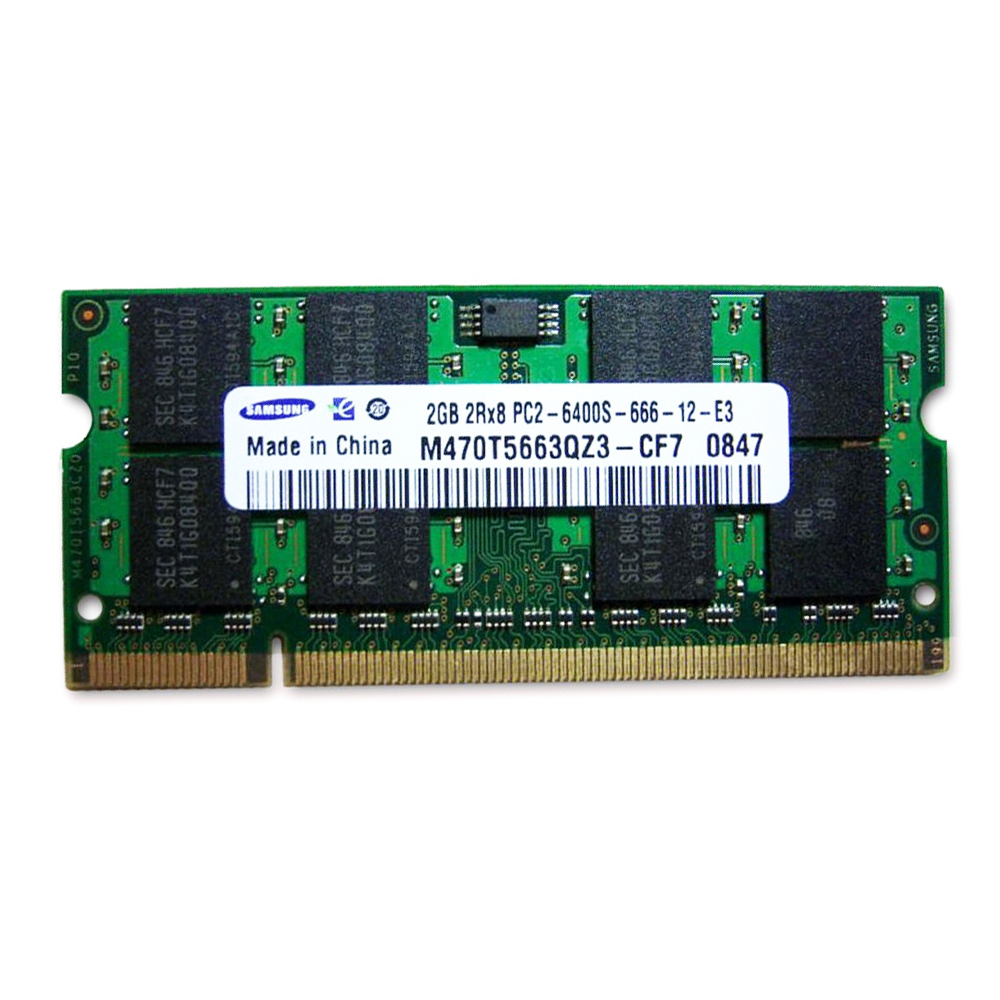 Samsung 2048DDR2NB6400-SAM 2GB DDR2 RAM 800MHz PC2-6400 200-Pin Laptop SODIMM