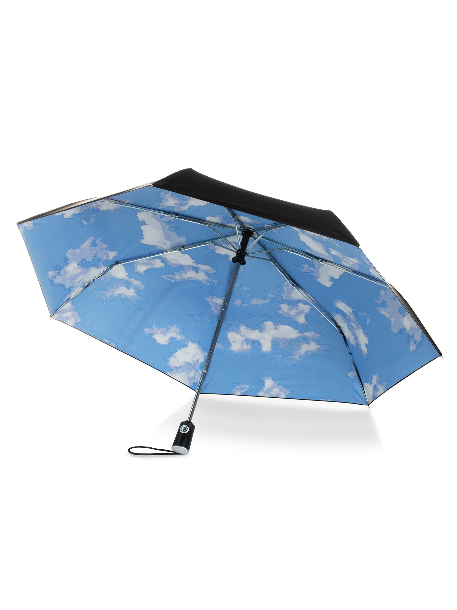 DOENR Compact Travel Umbrella Dinosaur Skeleton Sun and Rain Auto Open Close Folding Umbrella