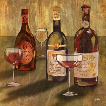 Bottle Of Wine Ii Poster Print By Elizabeth Medley