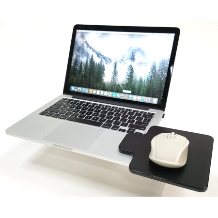 Creator's Mouse Ledge - Black - Laptop Computer Extension Surface Platform Table For Your Mouse - Attaches Directly To Either Side Of Your Laptop Turning It Into A Portable Workstation