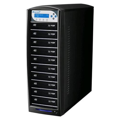 Vinpower Digital SharkBluCP-S10T-BK SharkBluCP 10 Target Blu-ray DVD CD Duplicator Tower with 500GB Hard Drive + USB 3.0 + CopyConnect (Supports BD CopyProtection)