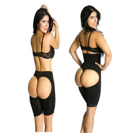 Shapex amincissants Kit taille haute Butt Lifter formateur contrôle Cuisse justaucorps et long Butt Lifter Hip Black 2 Pieces W