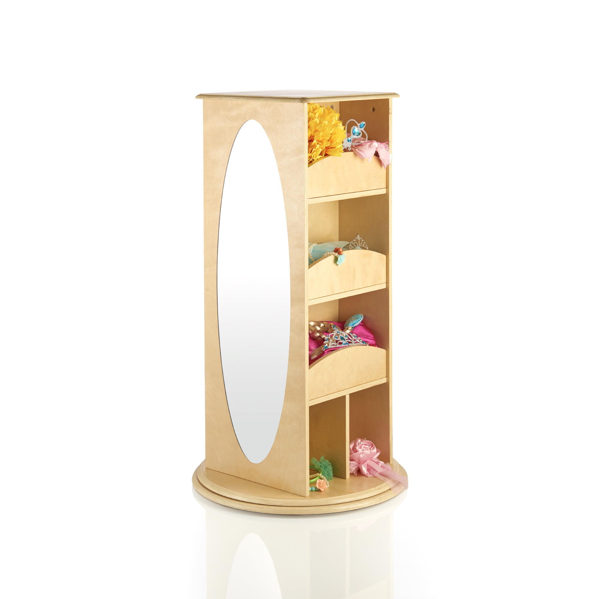 Rotating Dress-Up Storage Center Natural by Guidecraft