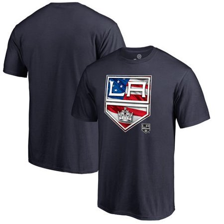 Los Angeles Kings Banner Wave T-Shirt - Navy