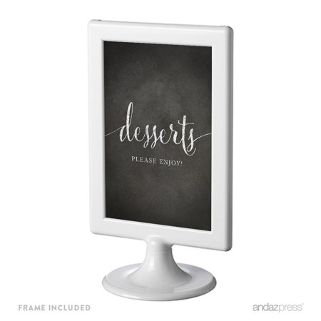 Dessert Table Framed Vintage Chalkboard Wedding Party Signs