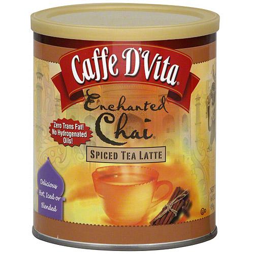 Caffe D'Vita Enchanted Chai Spiced Tea Latte,16 oz (Pack of 6)