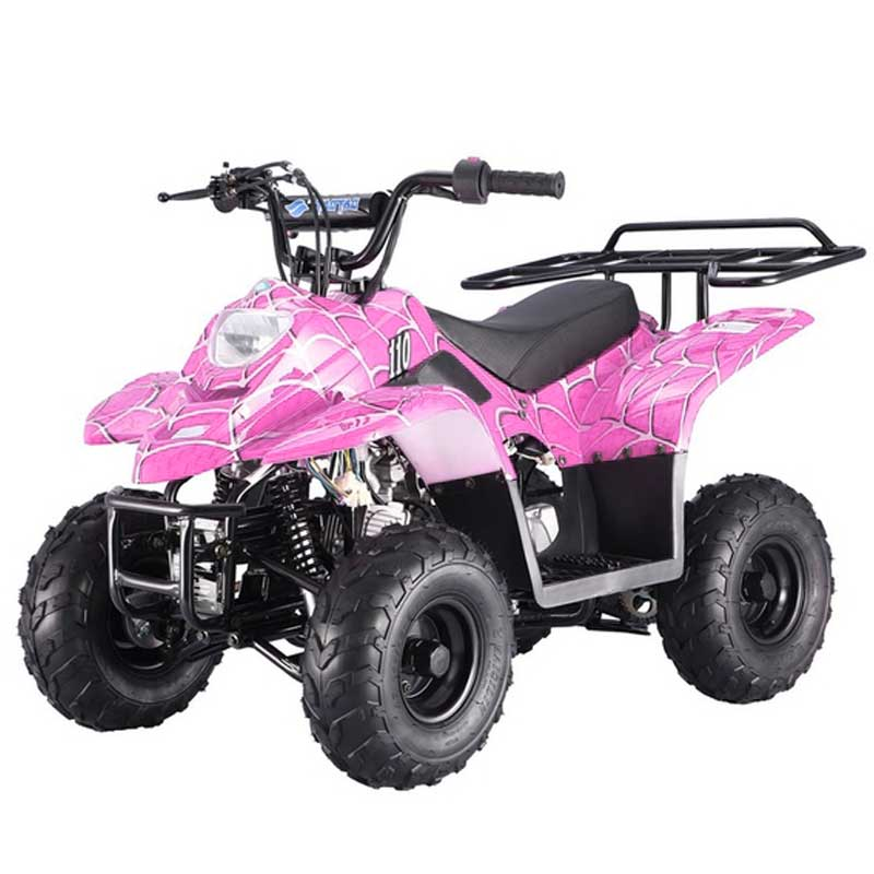 Kids Quad by FamilyGoKarts Pink Spider Assembled 400XR Kids ATV