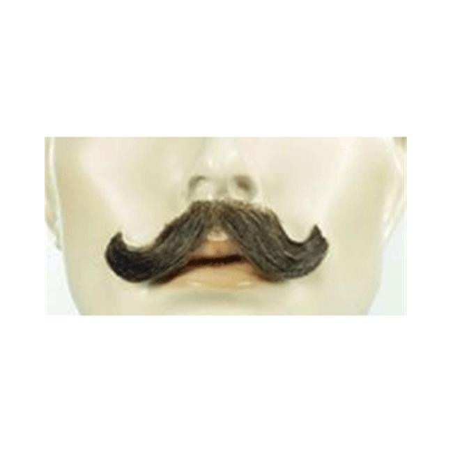 Hand  Made Moustache ~ M10 ~ Small English ~  4 ~ medium brown ~ theatrical