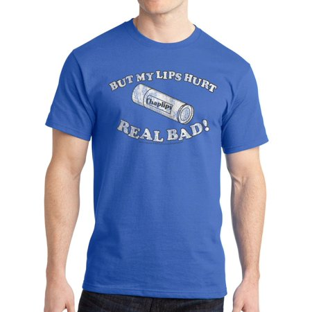 Napoleon Dynamite Lips Hurt Men's Royal Blue Funny T-shirt NEW Sizes S-2XL
