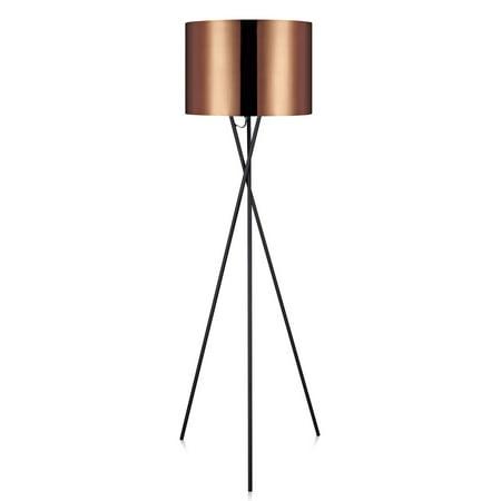 Versanora - Cara Tripod Floor Lamp with Copper Shade