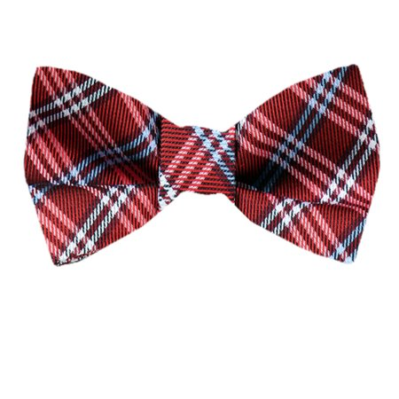 Mens Red Blue XL Silk Self Tie Bow Tie