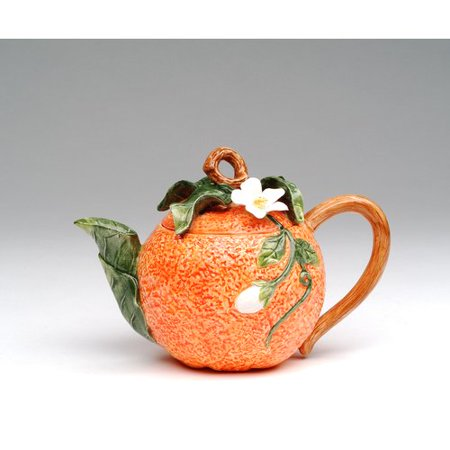 Cosmos Gifts Orange 0.38-qt. Teapot