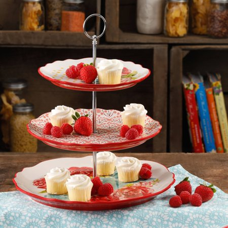 The Pioneer Woman Blossom Jubilee 3 Tier Serving Tray