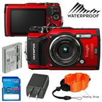 Olympus Tough TG-5 Digital Camera (Red) + Pixi Accessories Starter Bundle