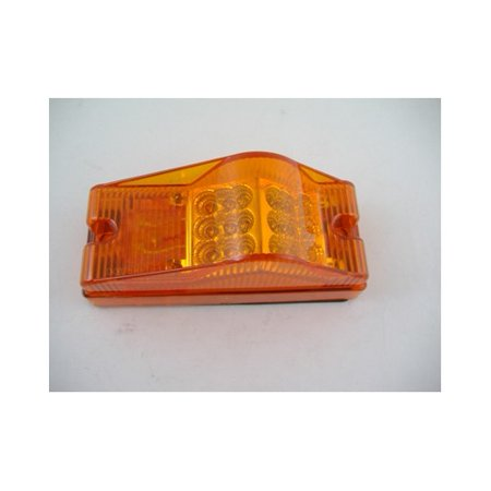 Amber 18 LED Trailer Bus Mid Turn Signal Marker Light / Wire - Bus Wire