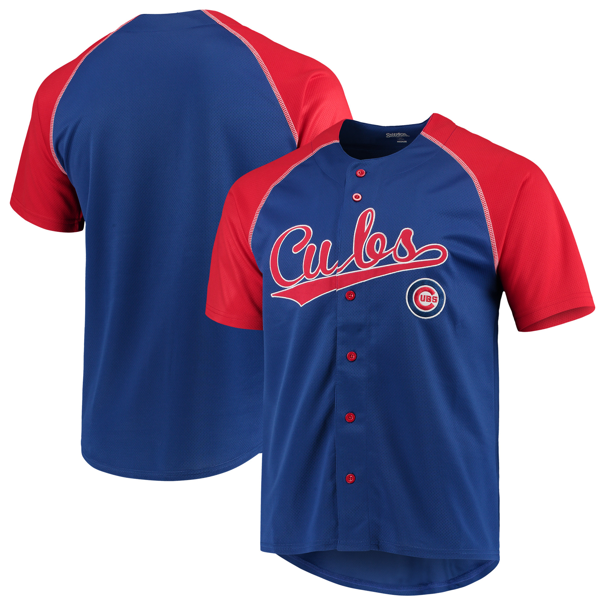 Chicago Cubs Stitches Team Jersey - Royal/Red