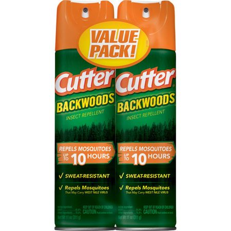 Windproof Water Repellent - Cutter Backwoods Insect Repellent, Aerosol, 2/11-oz