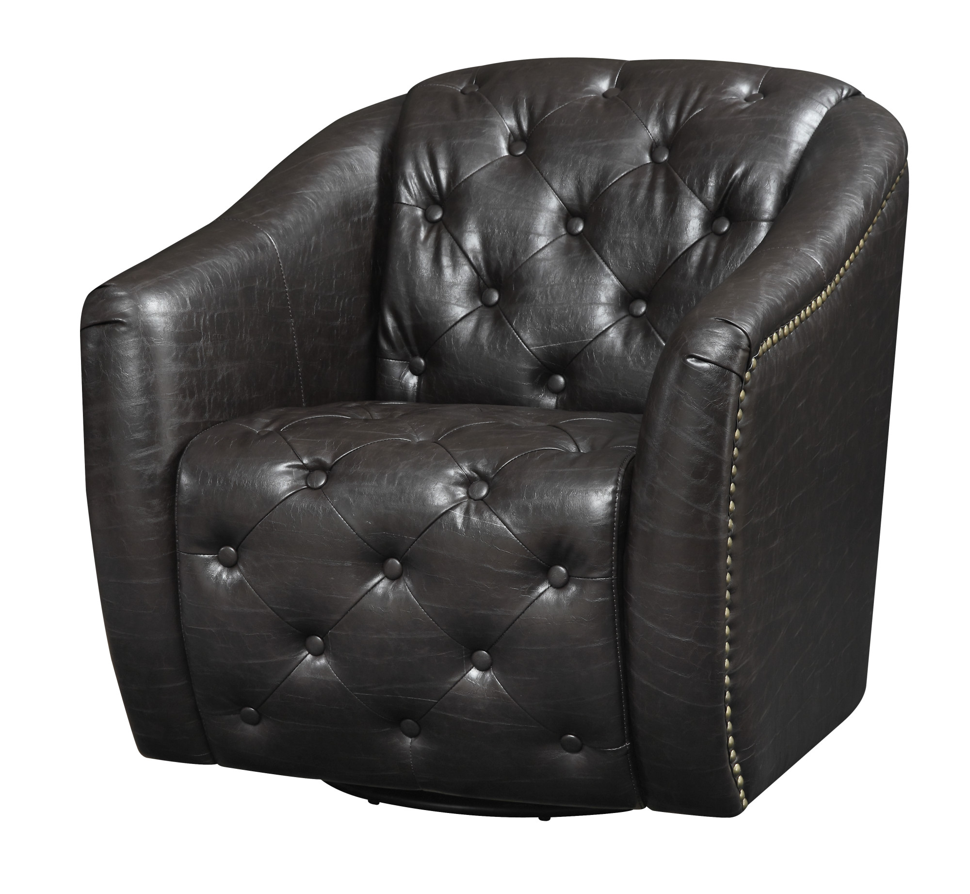 Emerald Home Vintage Matte Black Accent Chair with