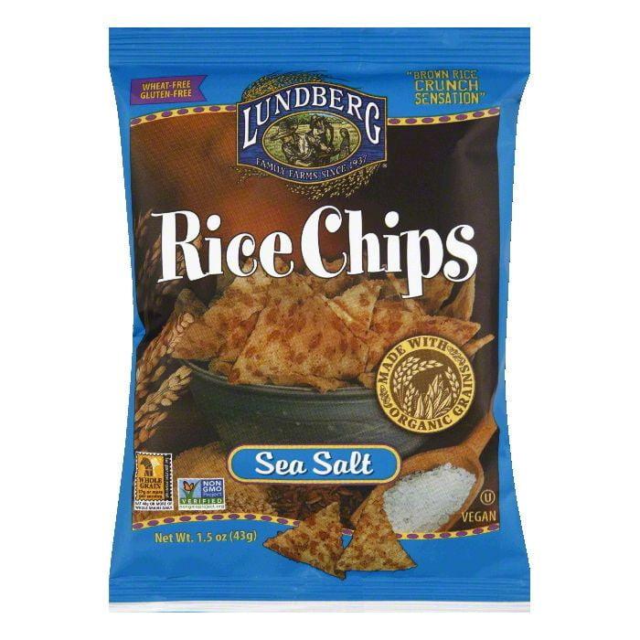 Lundberg Sea Salt Rice Chips, 1.5 Oz (Pack of 24)