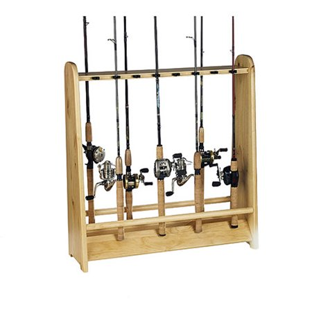 Organized fishing 16 rod holder for Walmart fishing pole holder