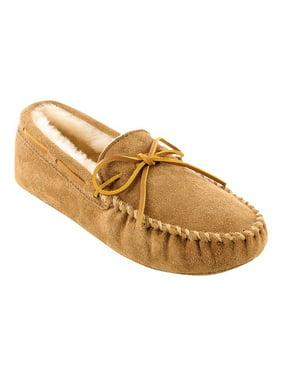 Minnetonka Men's Sheepskin Softsole Moccasin Slipper