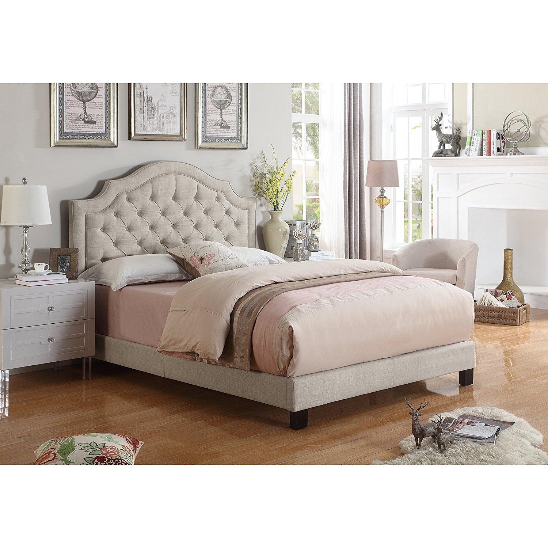 Picture of: Alton Furniture Angelo Tufted Upholstered Panel Platform Bed Walmart Com Walmart Com