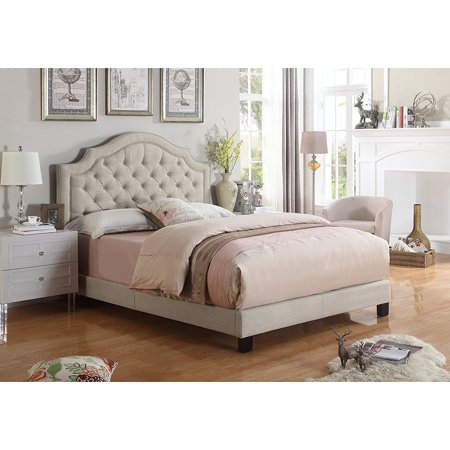 Alton Furniture Angelo Tufted Upholstered Panel/Platform Bed ()