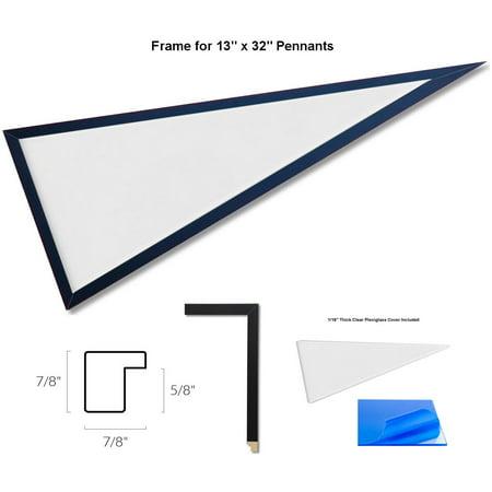 13x32 Wood Pennant Frame - Pennant Frames