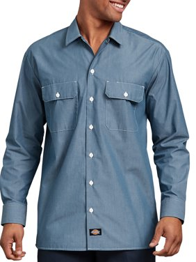 bb3f747ed4 Product Image Dickies Men s Relaxed Fit Long Sleeve Chambray Shirt