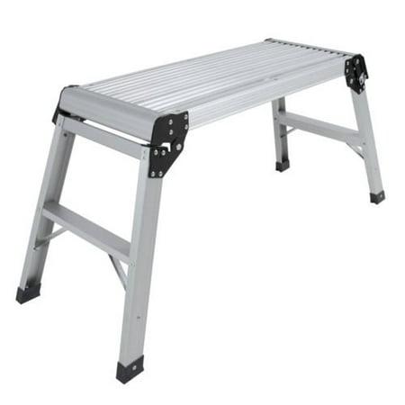Aluminum Work Platform - Aluminum Platform Drywall Step Up Folding Work Bench Stool Ladder New, Overall dimensions: 30 (L) x 12 (W) x 19.5 (H) By USA