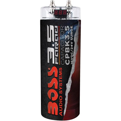 Boss CPBK3.5 3.5-Farad Capacitor Digital Volt Meter, Black