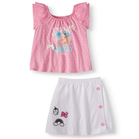 Graphic Ruffle Tee and Patches Scooter, 2-Piece Outfit Set (Little Girls & Big Girls) (Cowgirl Outfits For Little Girl)