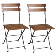Furniture Designhouse European Cafe Chestnut Folding Side Chairs - Set of 2