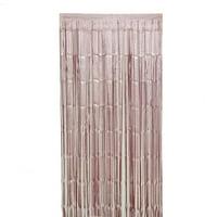 BalsaCircle 3 feet x 8 feet Metallic Foil Fringe Shiny Curtain - 5 colors