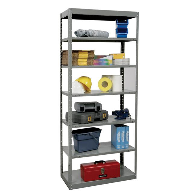 Hallowell DT5512-24HG Hallowell Hi-Tech Metal Shelving 36 in. W x 24 in. D x 87 in. H