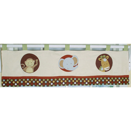 GEENNY Window Valance, Boutique Animal Scholar by Geenny