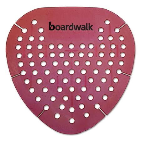 Boardwalk Gem Urinal Screen, Lasts 30 Days, Red, Spiced Apple Fragrance, 12/Box