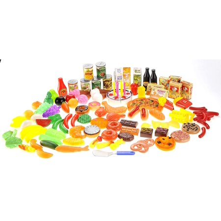 130 Piece Deluxe Assorted Play Food Pretend Play for Boys and Girls - Boys Food