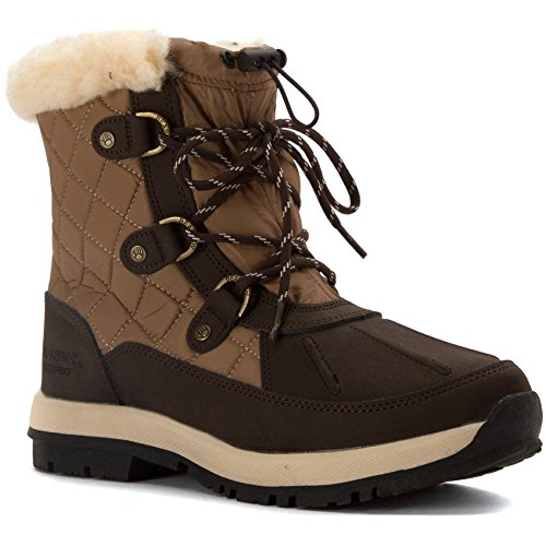 """Bearpaw Bethany Chocolate Khaki 8 Bethany Womens"" by Bearpaw"