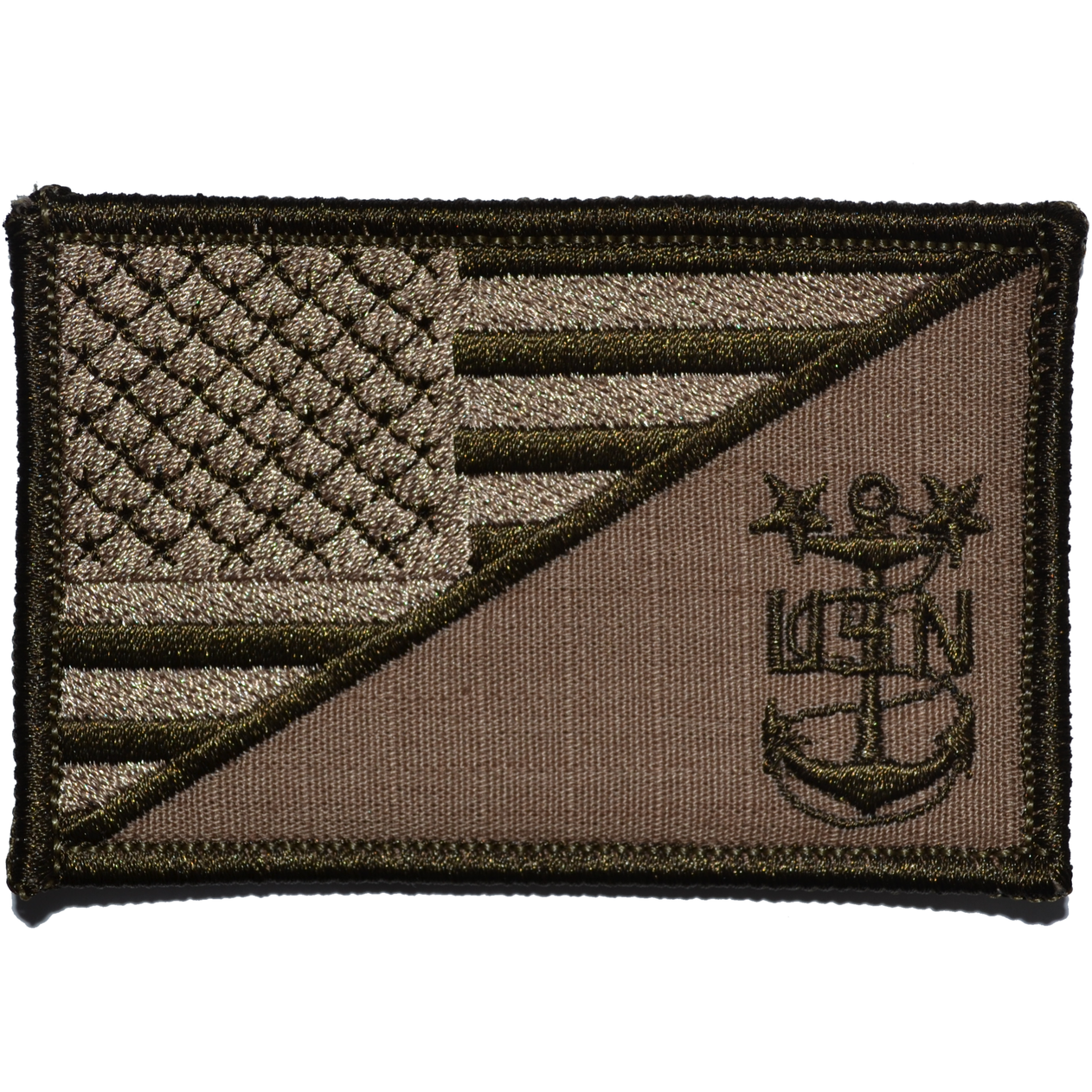 Navy MCPO Master Chief Petty Officer USA Flag - 2.25x3.5 inch Patch