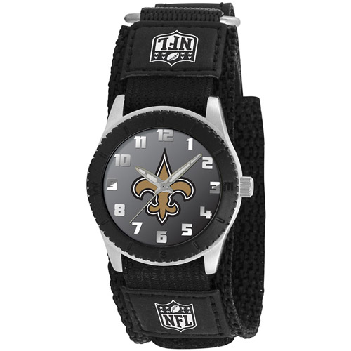 Game Time NFL Men's New Orleans Saints Rookie Series Watch, Black