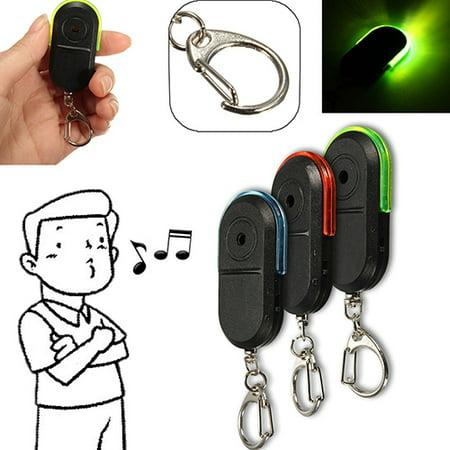 ZeAofa Wireless Anti-Lost Alarm Key Finder Locator Whistle Sound LED Light Keychain