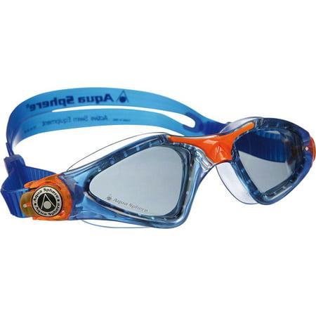 Aqua Sphere Kayenne Jr Goggles: Blue/Orange with Smoke Lens