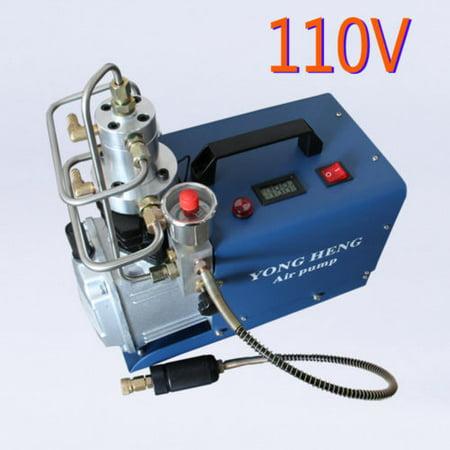 110V Set Pressure Plate 30MPA 4500PSI High Pressure Air Pump Electric Air Compressor PCP